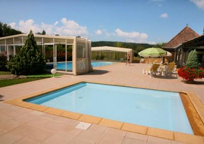 piscines hotel plaisance Vitrac Dordogne Perigord
