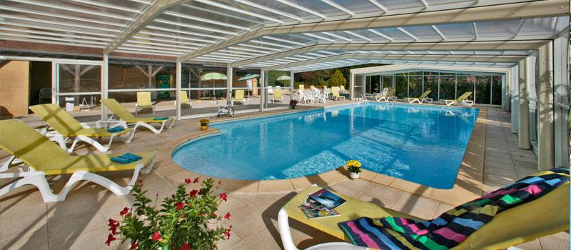La piscine chauffée de l'Hôtel Plaisance