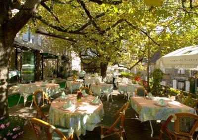 terrasse restaurant hotel plaisance Vitrac Dordogne Perigord