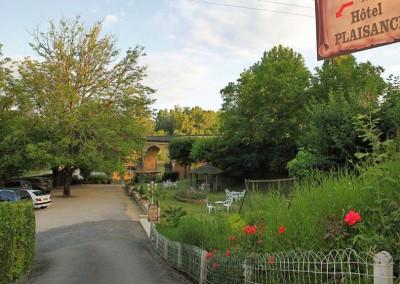Le jardin donnant sur la Dordogne